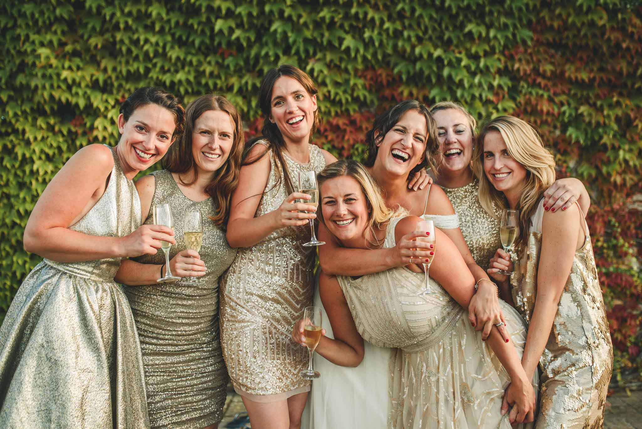 creative portrait bridal party