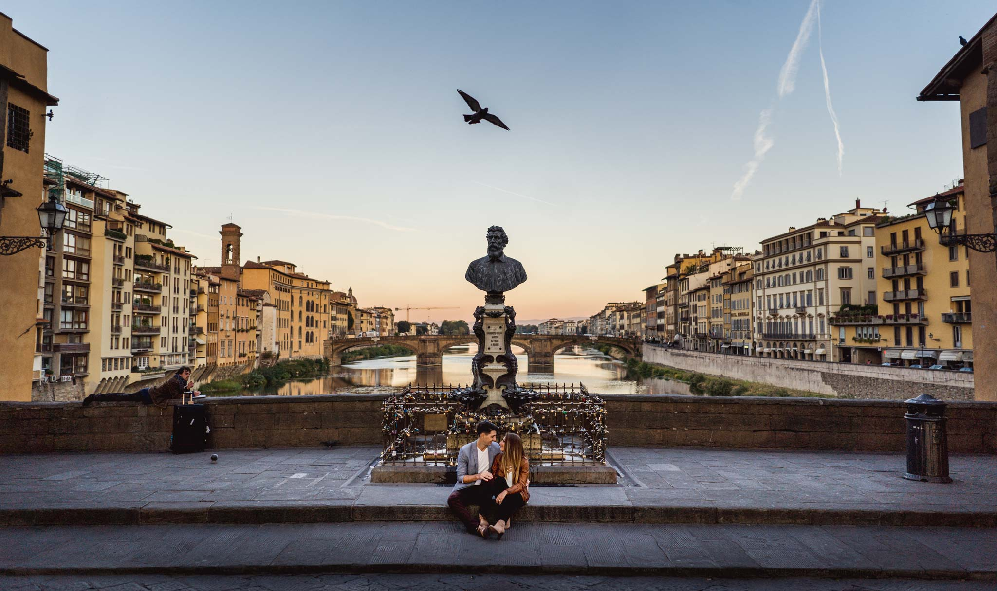 engagement photography creative portrait florence tuscany