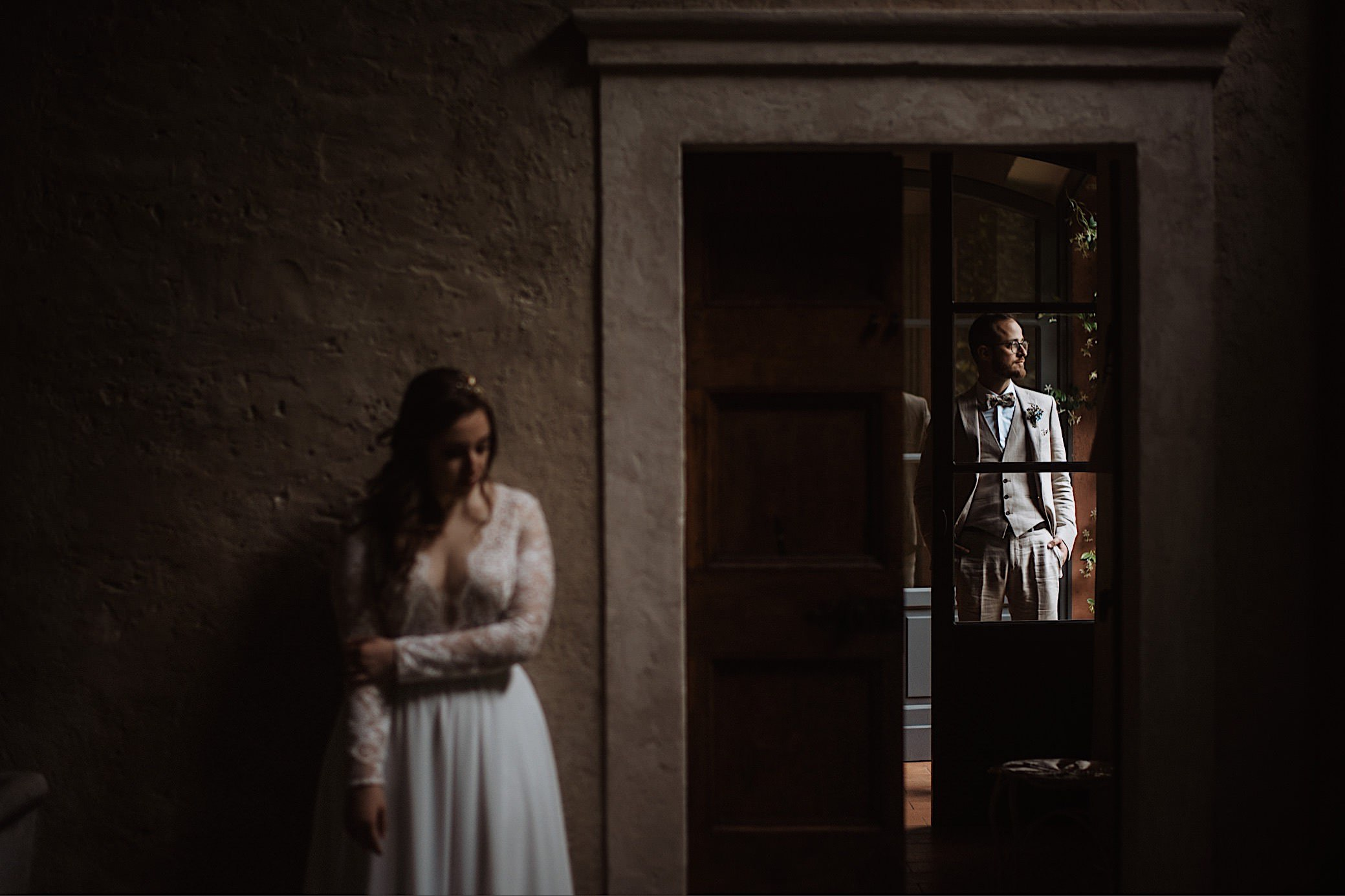 intimate couple portrait at convento dell annunciata wedding photography