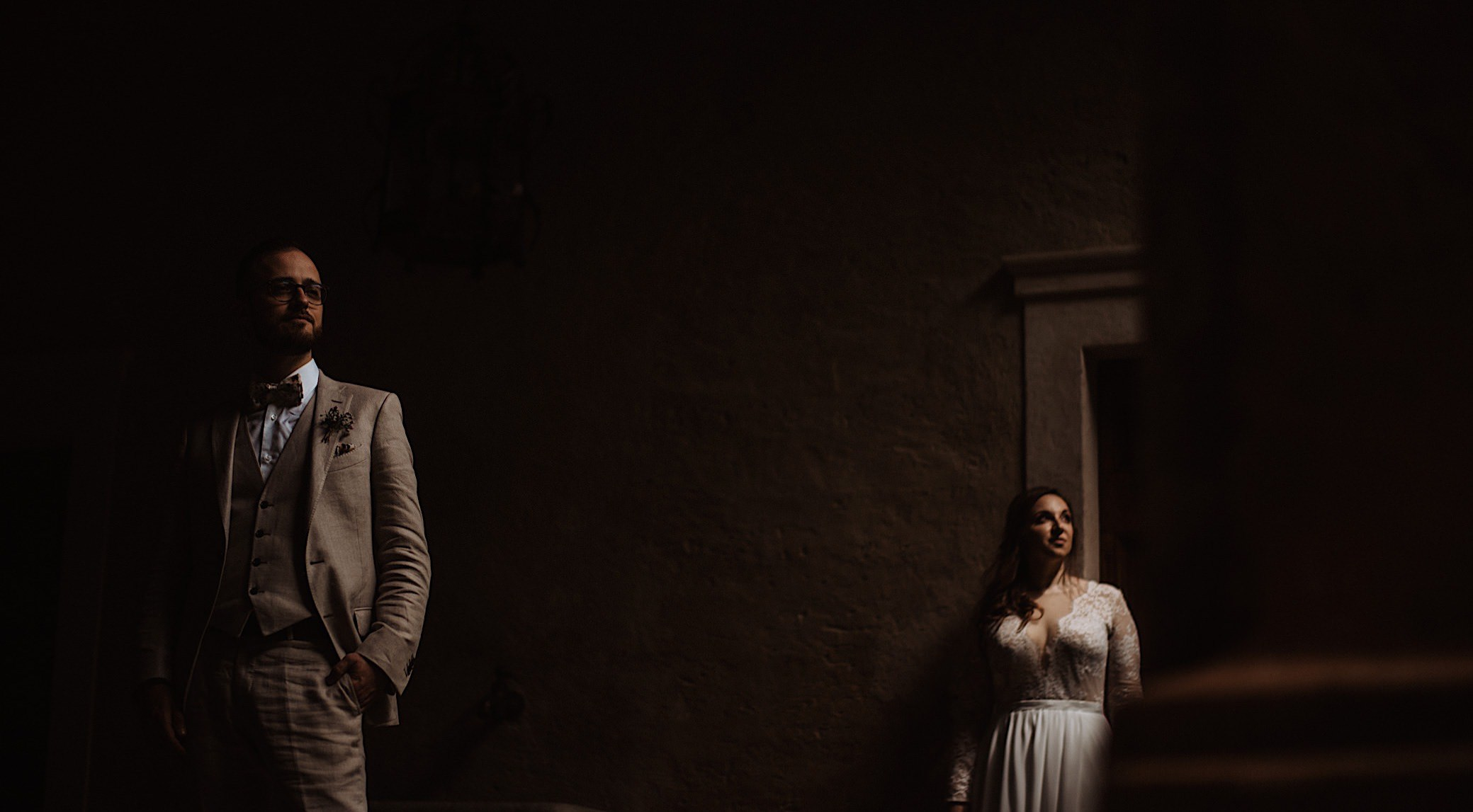 intimate couples portrait at convento dell annunciata wedding photography