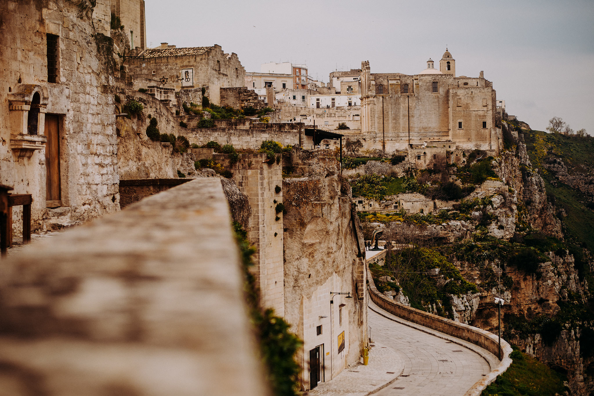 intimate wedding matera italy sextantio view